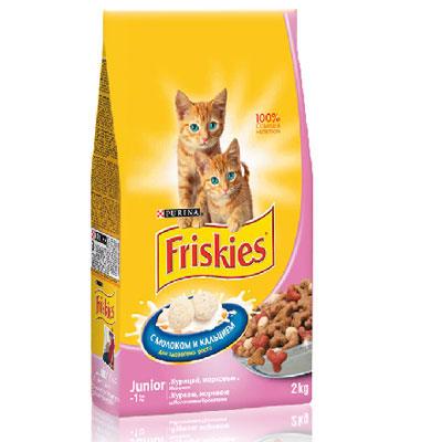 """Корм сухой для котят Friskies """"Junoir"""", с курицей, морковью и молоком, 2 кг ( 5118345 )"""