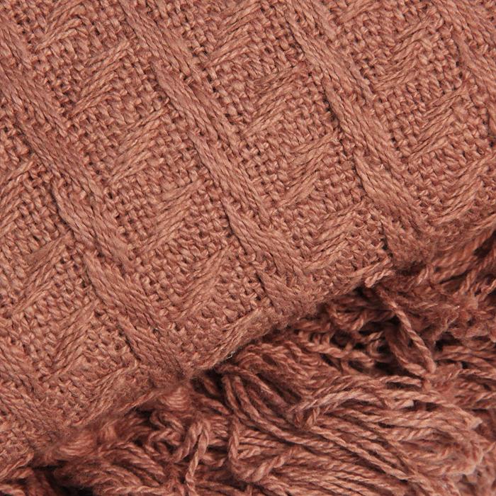 """Покрывало """"Кантри. British Style"""", 160 х 220 см, цвет: шоколад"""