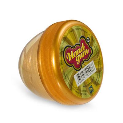 Жвачка для рук ТМ HandGum, цвет: золотой, 35 г10086Жвачка для рук Hand Gum золотого цвета без запаха подарит вам позитив и хорошие эмоции. Она радует глаз и дарит нежные тактильные ощущения, способствуя хорошему настроению. Жвачка для рук изготовлена из упругого, пластичного и приятного на ощупь материала, ее можно растягивать, как резину, а если сильно дернуть, то можно порвать. Из нее отлично получаются скульптуры, которые живут считанные минуты, постепенно превращаясь в лужи. Прилепите ее на дверную ручку - и он капнет, скатайте шарик и ударьте об пол - он подпрыгнет. Кубик, кстати, тоже подпрыгнет, но совсем не туда, куда ожидается.