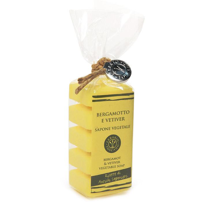 Растительное мыло Бергамот и ветивер, 5х30 г (Erbario Toscano)