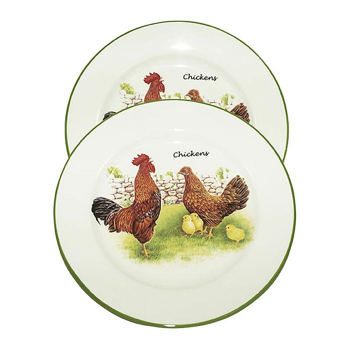 """Набор тарелок """"Ферма"""", диаметр 21 см, 2 шт ( INFEX-C045-F-AL )"""