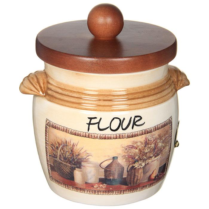 "Банка для продуктов LCS Натюрморт ""Flour"" 0,75 л LCS670MLFV-AL"