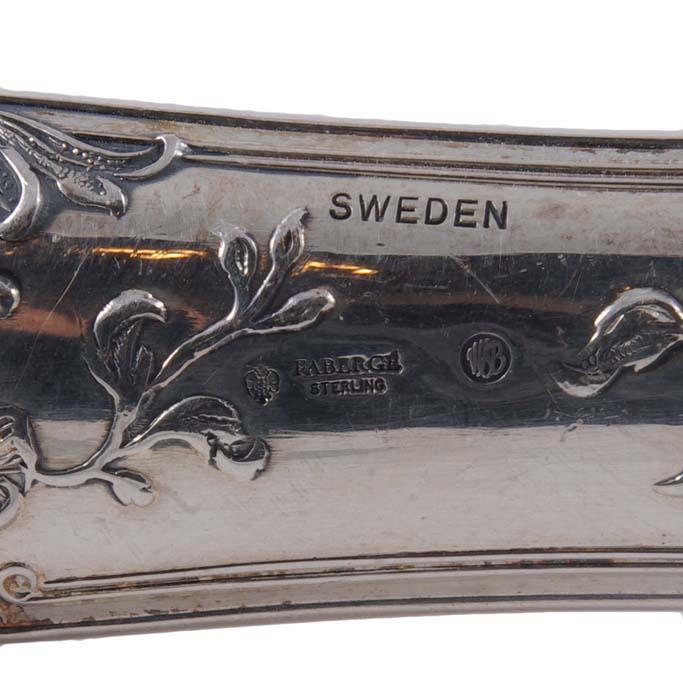 Столовая ложка и нож, серебро 84 пробы, позолота, клеймо сазиков