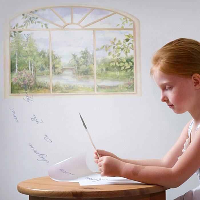 """Украшение для стен и предметов интерьера """"Окно. Лето"""""""
