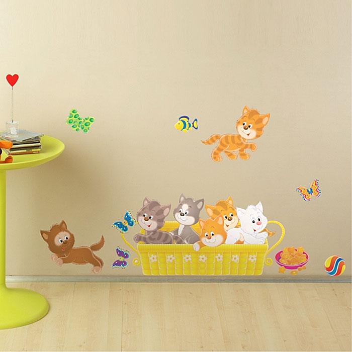 """Украшение для стен и предметов интерьера """"Котята с аквариумом"""""""