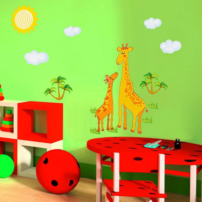 """Украшение для стен и предметов интерьера """"Два жирафа"""""""