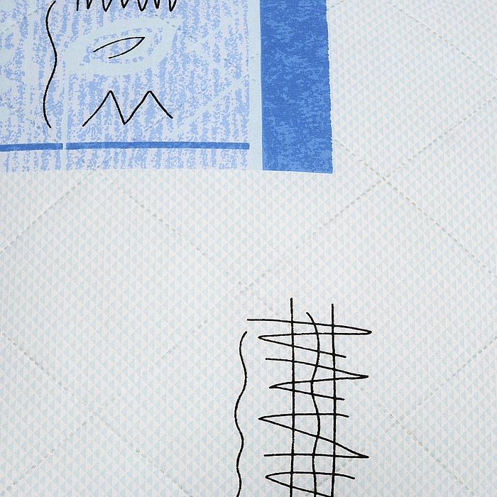 """Подушка Подушкино """"Верблюжья"""", наполнитель: верблюжья шерсть, цвет: белый, синий, 68 х 68 см"""
