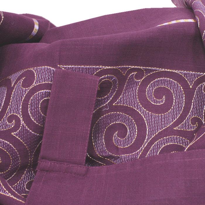 """Гардина """"Schaefer"""" на петлях, с вышивкой, цвет: сиреневый, 135 см х 245 см ( 06906-595 )"""