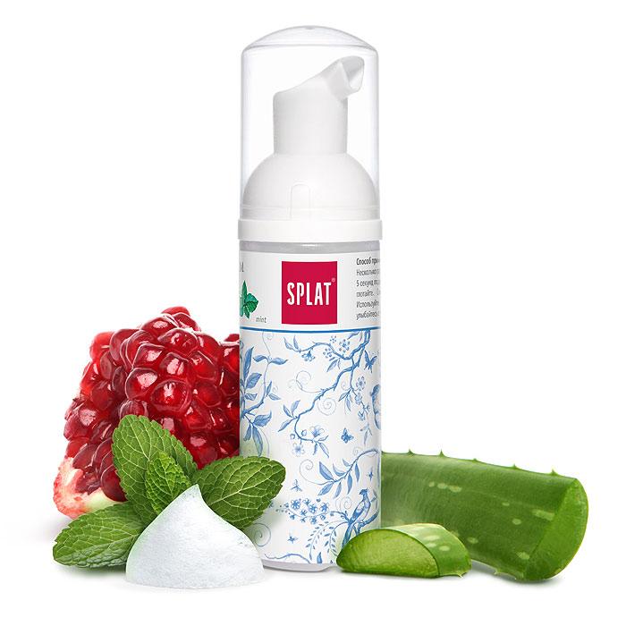 Очищающая пенка Splat Oral Care Foam для зубов и десен, 2в1, с ароматом мяты, 50 мл