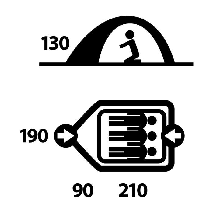 Палатка Husky Beast 3, цвет: светло-зеленыйУТ-000046852Палатка BEAST 3 двухслойная однокомнатная палатка с двумя входами и тамбурами с внутренним расположением дуг. Внутренняя палатка оснащена противомоскитной сеткой. Модель в серии Husky Extreme Lite, в которой основной приоритет сделан на привлекательном балансе между качеством и ценой. Стильный дизайн, непромокомаемые тент и дно, легкая установка благодаря внутреннему расположению алюминиевых дуг. Хорошее приобретение для велотуристов и путешественников. Аксессуары: алюминиевые колышки, ремкомплект, компрессионный мешок. Характеристики: Вместимость: 3 человека. Размер палатки в разложенном виде (ДхШхВ): 300 см х 190 см х 130 см. Размер спального места: 190 см х 210 см. Наружный тент: полиэстер RipStop 210Т с PU-покрытием, 5.000 мм/см2. Внутренняя палатка: водоотталкивающий нейлон 190Т. Дно: полиэстер 190Т с PU-покрытием, 8.000 мм/см2. Каркас: дуги из дюралюминиевого сплава диаметром 8,5...