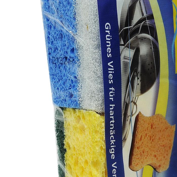 """Набор губок """"Aqualine"""" для мытья посуды, 4 шт"""