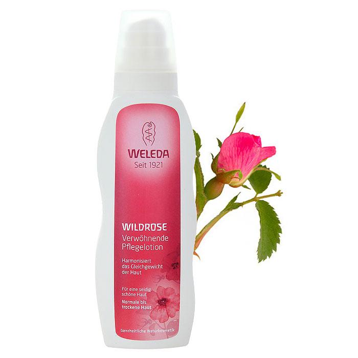 Молочко для тела Weleda Wildrose, гармонизирующее, для нормальной и сухой кожи, 200 мл