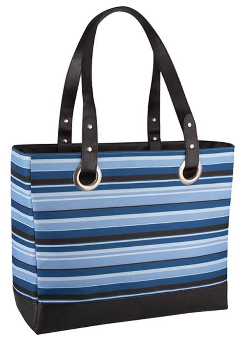 "Сумка-термос Raya ""Stripe"", цвет: черный, синий, голубой, 20 л"