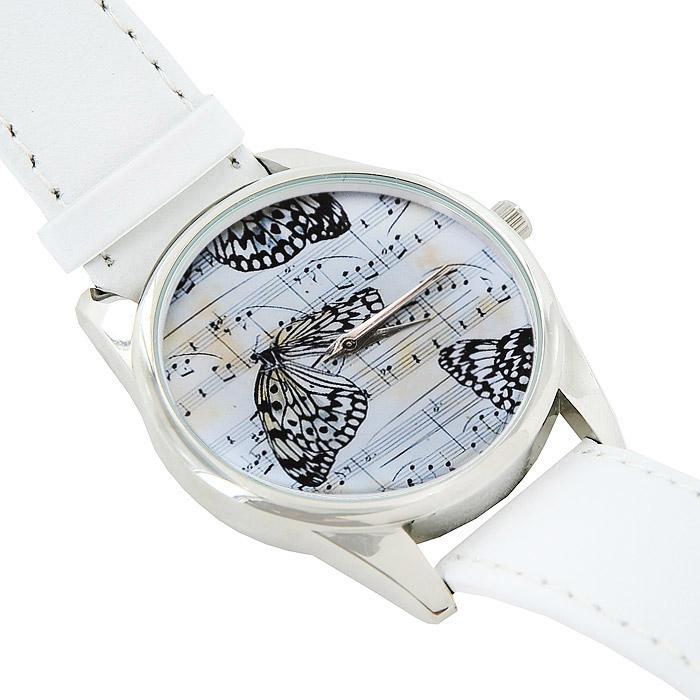 Часы Mitya Veselkov Бабочки и ноты. MV.White-26