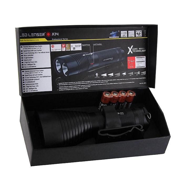"""Фонарь светодиодный """"LED Lenser X14"""", цвет: черный"""