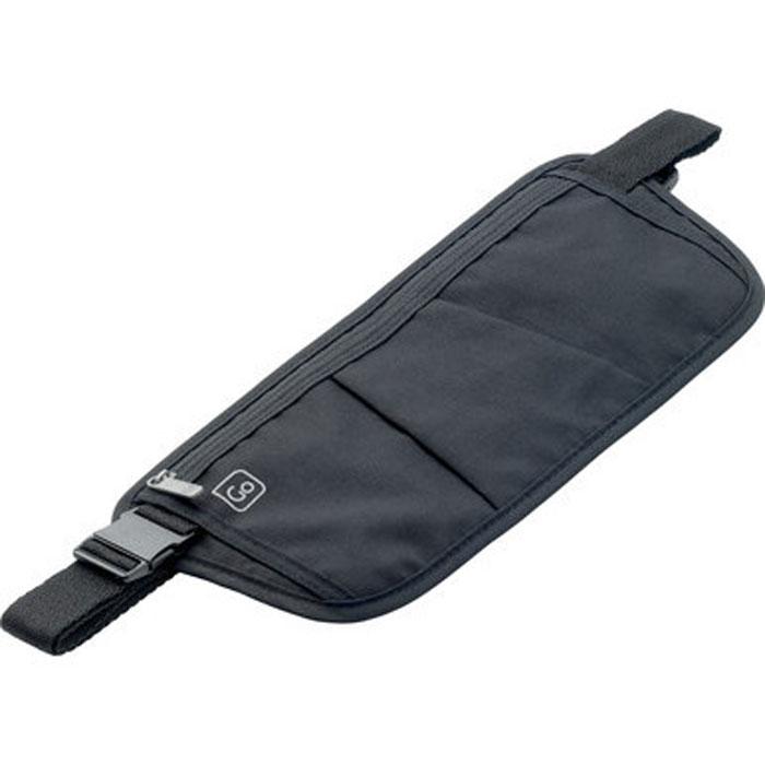 """Бумажник потайной """"Go Travel"""", на пояс, цвет: черный"""