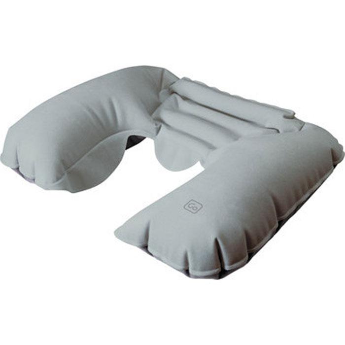 """Надувная подушка-подголовник для шеи """"Go Travel"""", цвет: серый. 447 DG"""