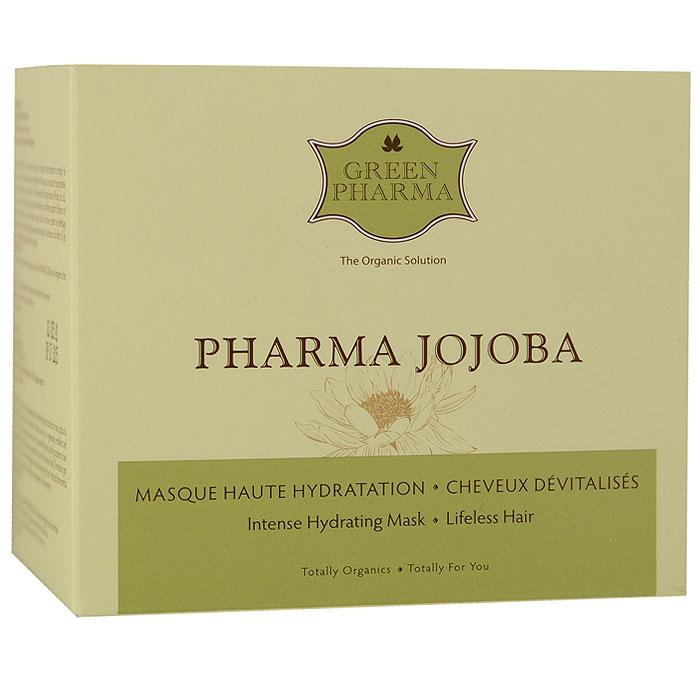 Экспресс-маска Greenpharma Pharma Jojoba высокой степени увлажнения, с маслом жожоба и экстрактом анжелики, для безжизненных волос, 250 мл (Green Pharma)