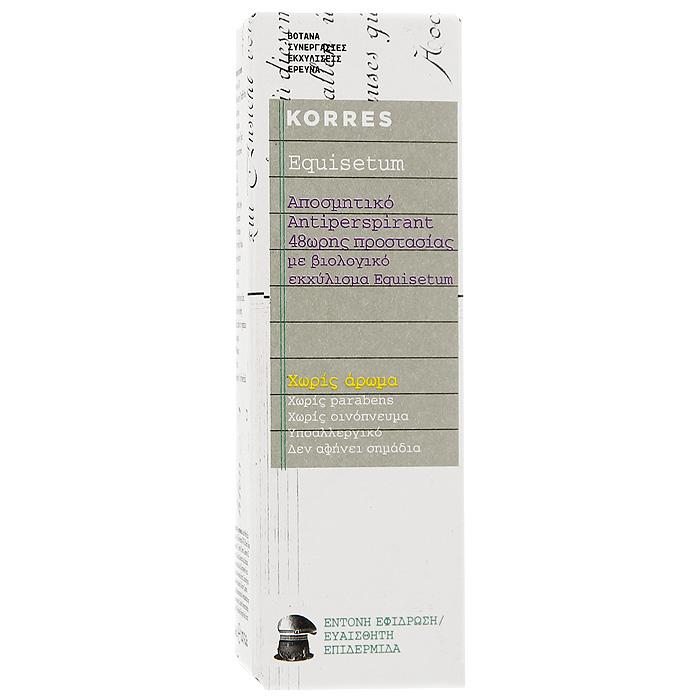 Korres Дезодорант шариковый с экстрактом хвоща, для чувствительной кожи, без отдушек, 30 мл