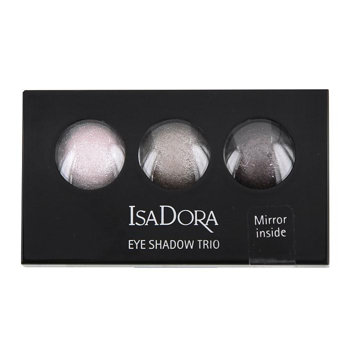 Тени для век Isa Dora Eye Trio, запеченные, 3 цвета, тон №80, цвет: драгоценный жемчуг, 1,8 г