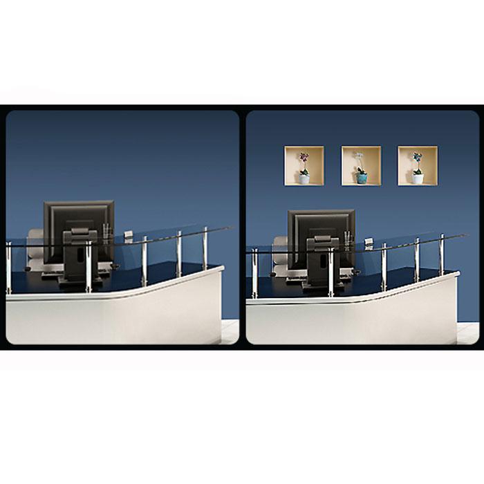 """Украшение для стен и предметов интерьера с 3D эффектом """"Горшки с цветами №3 """""""