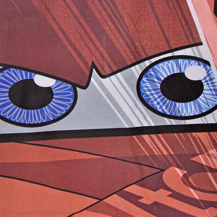 """Постельное белье """"Cars Face Movie"""" (1,5 спальный детский КПБ, ранфорс, наволочка 50х70), цвет: красный ( 7012B-8800003418 )"""