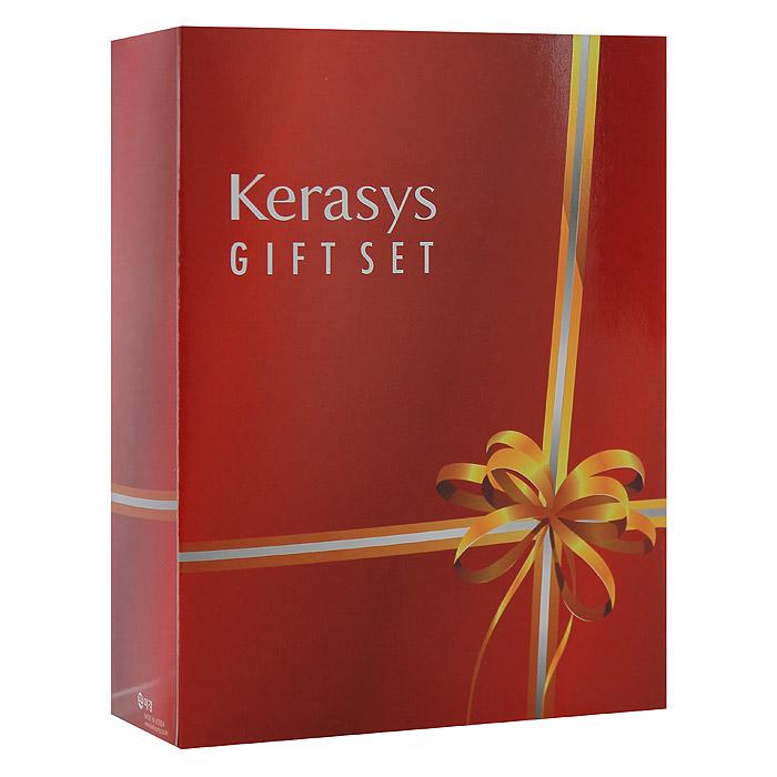 KeraSys Подарочный набор для волос Salon Care, для объема: шампунь, бальзам-ополаскиватель, мыло, 2 шт (Kerasys)