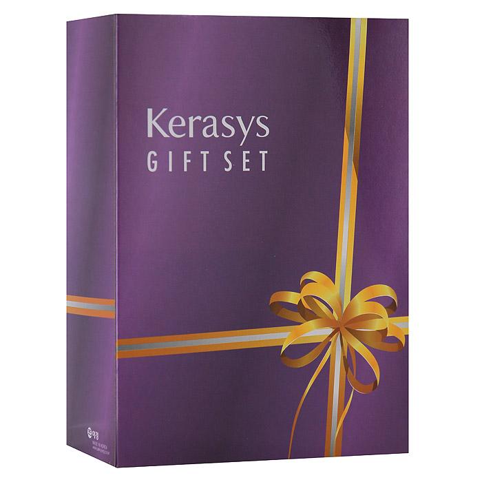 KeraSys Подарочный набор для волос Salon Care. Выпрямление: шампунь, бальзам-ополаскиватель, мыло, 2 шт (Kerasys)
