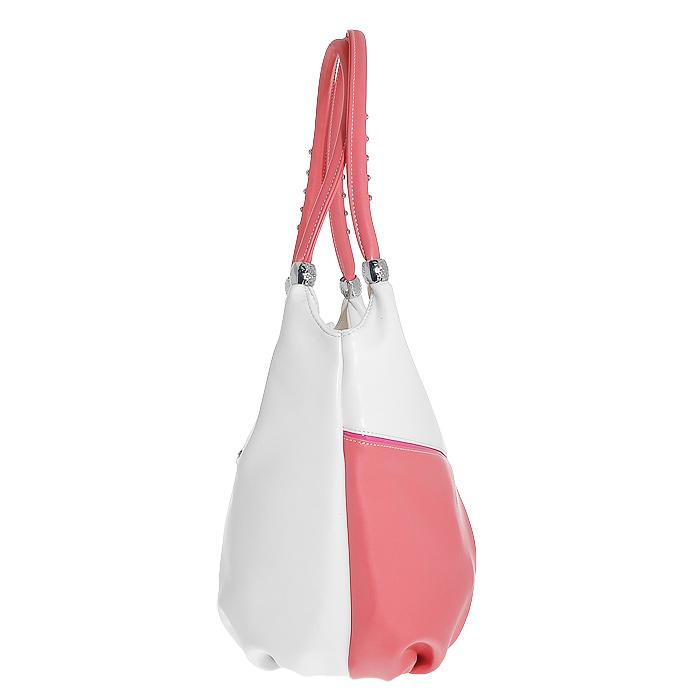 """Сумка женская """"Leighton"""", цвет: белый, розовый. 31539-082 ( 31539-082/101/082/27/3495/2/36 )"""