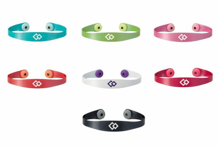 "Магнитный браслет Colantotte ""Magtitan Color Palette"", цвет: белый, фиолетовый. Размер S"