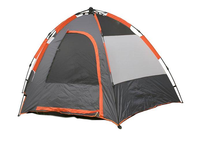 """Палатка пятиместная Columbus """"Galaxy"""" полуавтоматическая, двухслойная, цвет: серый, оранжевый ( 2769 )"""