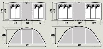 Палатка RockLand Family 2+2 ( 8922083 )