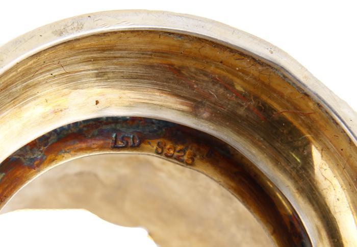 Подстаканник. Белый металл, клуазоне, начало ХХ века
