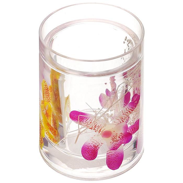 """Набор гелевых аксессуаров для ванной комнаты """"Орхидея"""", 3 предмета ( 337-00 )"""