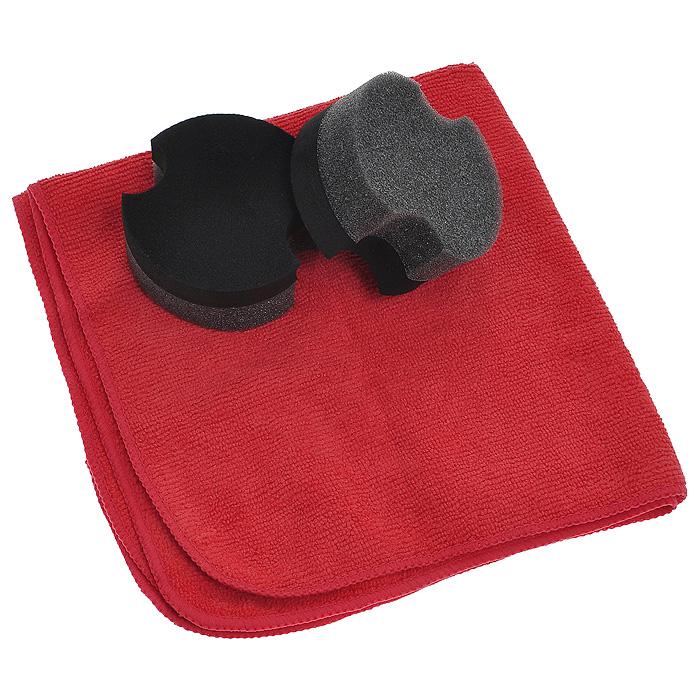 """Набор Sonax """"Premium Class"""" для полировки авто: воск карнауба, салфетка, губки"""