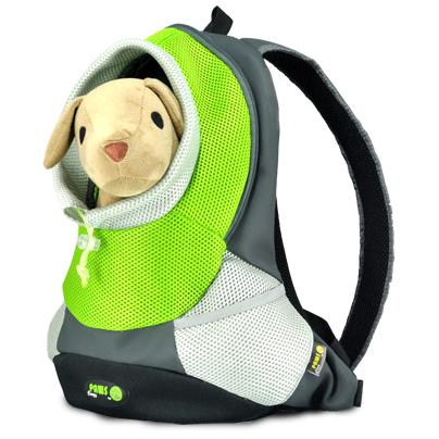 """Переноска-рюкзак """"Crazy Paws"""" для собак и кошек, цвет: зеленый, серый. Размер Small"""