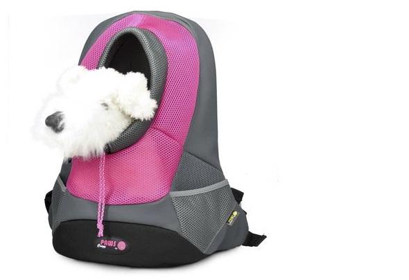 """Переноска-рюкзак """"Crazy Paws"""" для собак и кошек, цвет: розовый, серый. Размер Large"""