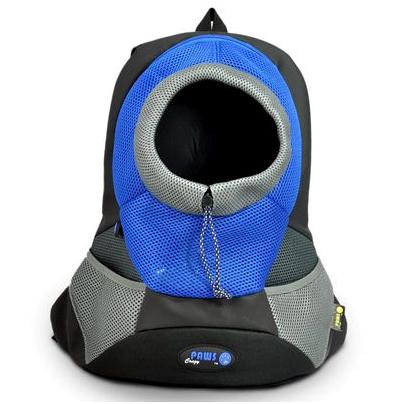 """Переноска-рюкзак """"Crazy Paws"""" для собак и кошек, цвет: голубой, серый. Размер Small"""