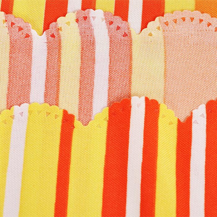 """Скатерть """"Герберы"""", цвет: оранжевый, 145 x 180 см"""
