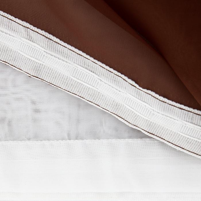 """Комплект штор для кухни """"Kornelia"""", на ленте, цвет: коричневый, высота 170 см ( Б0010 )"""