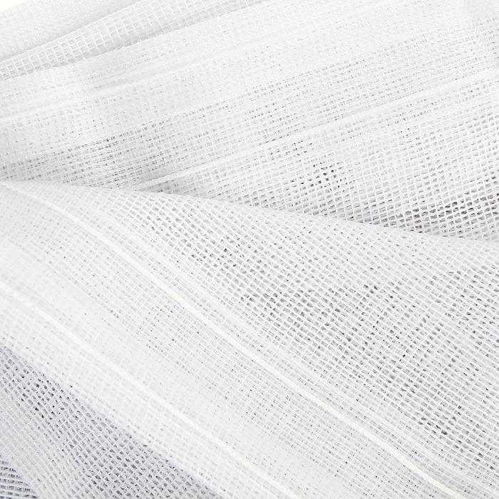 """Комплект штор для кухни """"Kasandra"""", на ленте, цвет: бежевый, белый, высота 180 см ( 716500 )"""