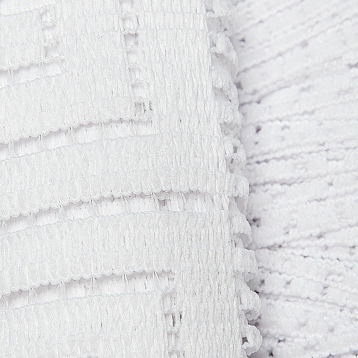 "Гардина-лапша ""Ira"", на кулиске, цвет: белый, высота 160 см ( 663316 )"