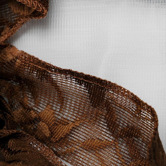 """Комплект штор """"Maria"""", на ленте, цвет: белый, коричневый, высота 250 см ( 710461 )"""