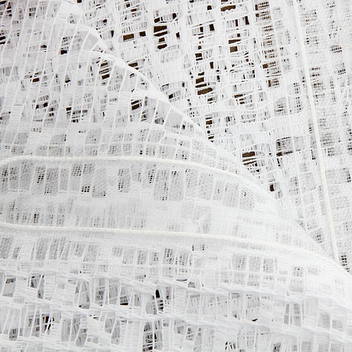 """Комплект штор для кухни """"Aniela"""", на ленте, цвет: белый, высота 250 см ( 674497 )"""
