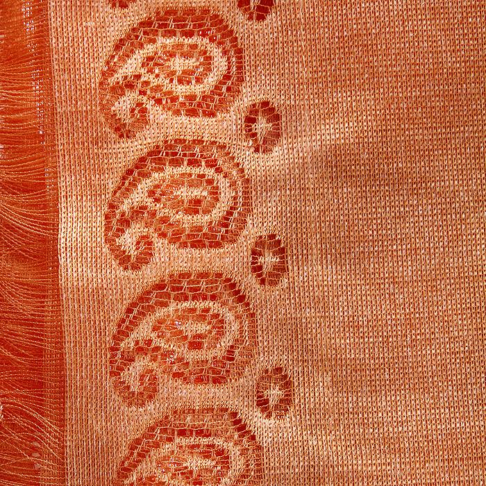 """Гардина-лапша """"Budda"""", на кулиске, цвет: оранжевый, высота 240 см ( 704149 )"""