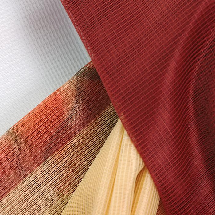 """Комплект штор """"Ztocienie"""", на ленте, цвет: терракотовый, желтый, белый, высота 250 см"""