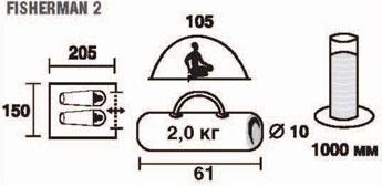 "Палатка двухместная TREK PLANET ""Fisherman 2"", цвет: камуфляж ( 70126 )"