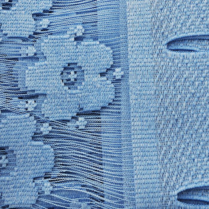 """Гардина-лапша """"Maja"""", на петлях, цвет: голубой, высота 160 см ( 677580 )"""