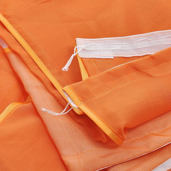 """Комплект штор """"Licynia"""", на ленте, цвет: оранжевый, высота 180 см ( Б0592 )"""