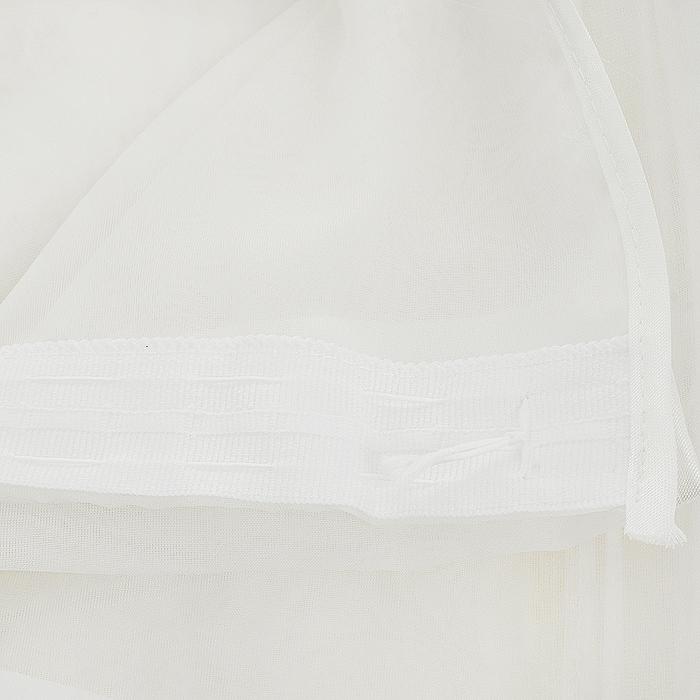"Гардина ""Zlata Korunka"", на ленте, цвет: белый, 560 х 275 см ( Б018 )"